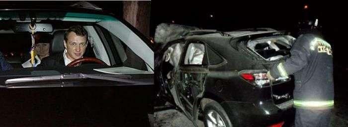 Аварії і порушення ПДР знаменитими людьми (7 фото)