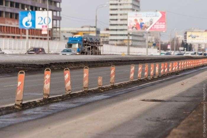 Вулиці Москви обладнують делинеаторами (19 фото)