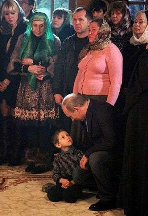 Володимир Путін і кримінальний авторитет Дід Хасан (1 фото)