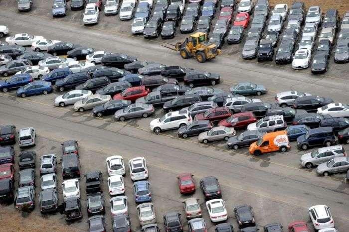 Автомобілі, які постраждали від урагану Сенді в США (9 фото)
