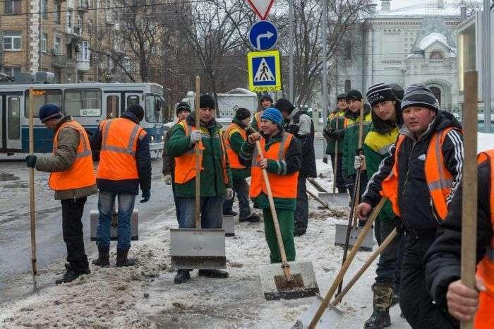 Мер Москви та підставні двірники (1 фото + відео)