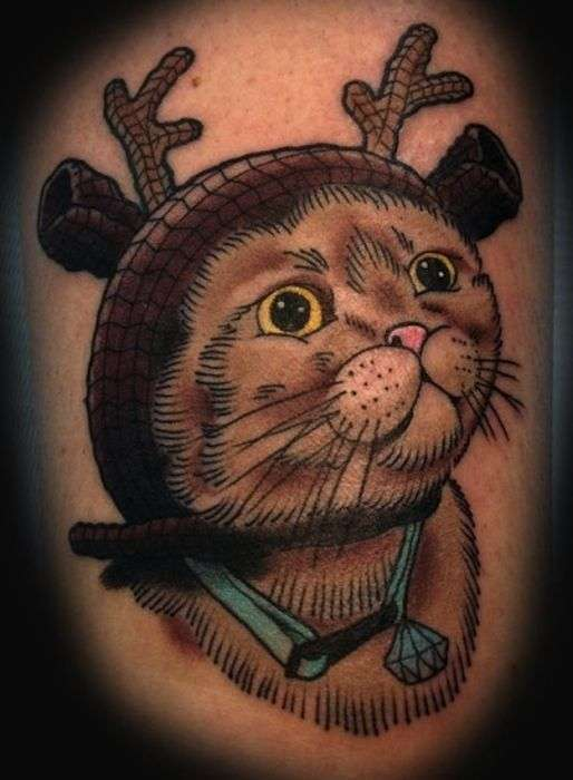 Невдалі тату у вигляді котів (38 фото)
