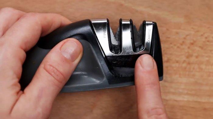 3 самых доступных способа наточить кухонный нож Самоделки