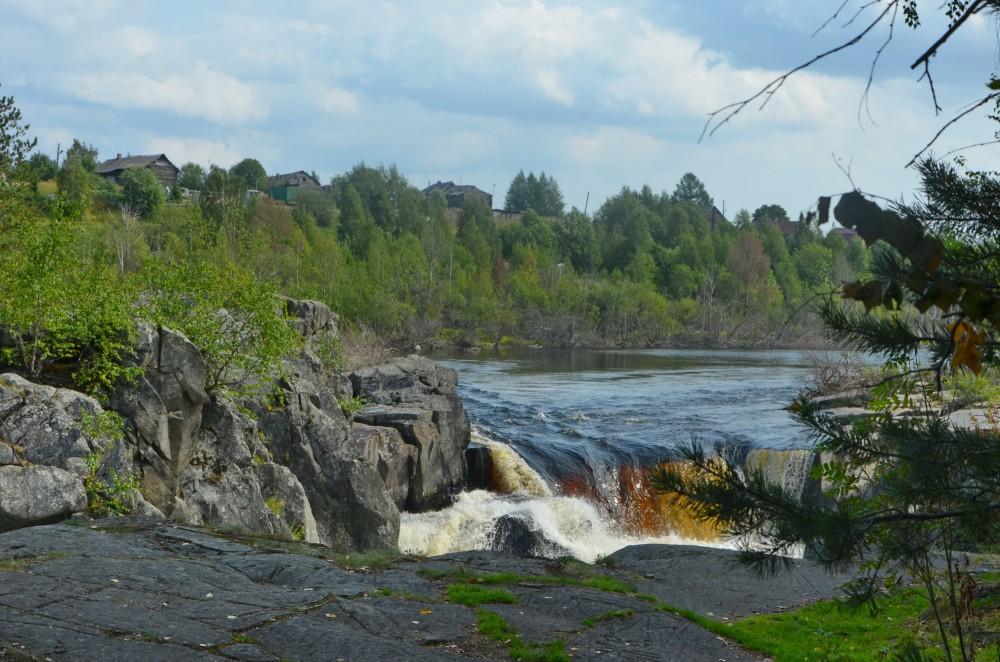 Водопад Воицкий падун. Карелия