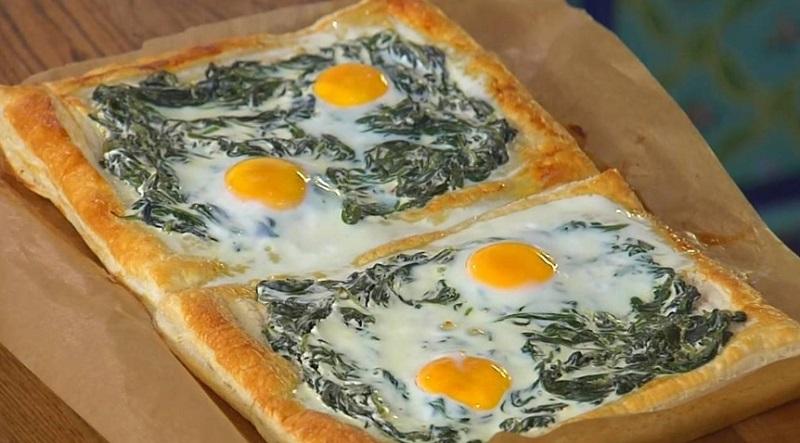 Рецепт пирога с яйцом и шпинатом кулинария