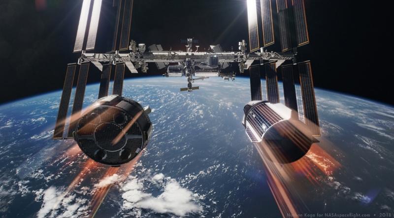 NASA покупает еще два места на «Союзах», испытывает RS-25 и не отказывается от околоземной станции