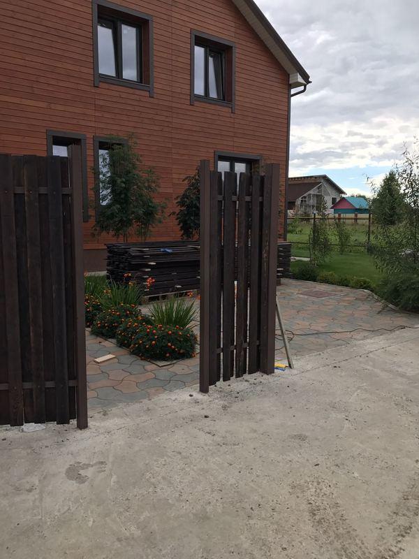 Забор из брашированных досок своими руками мастерская