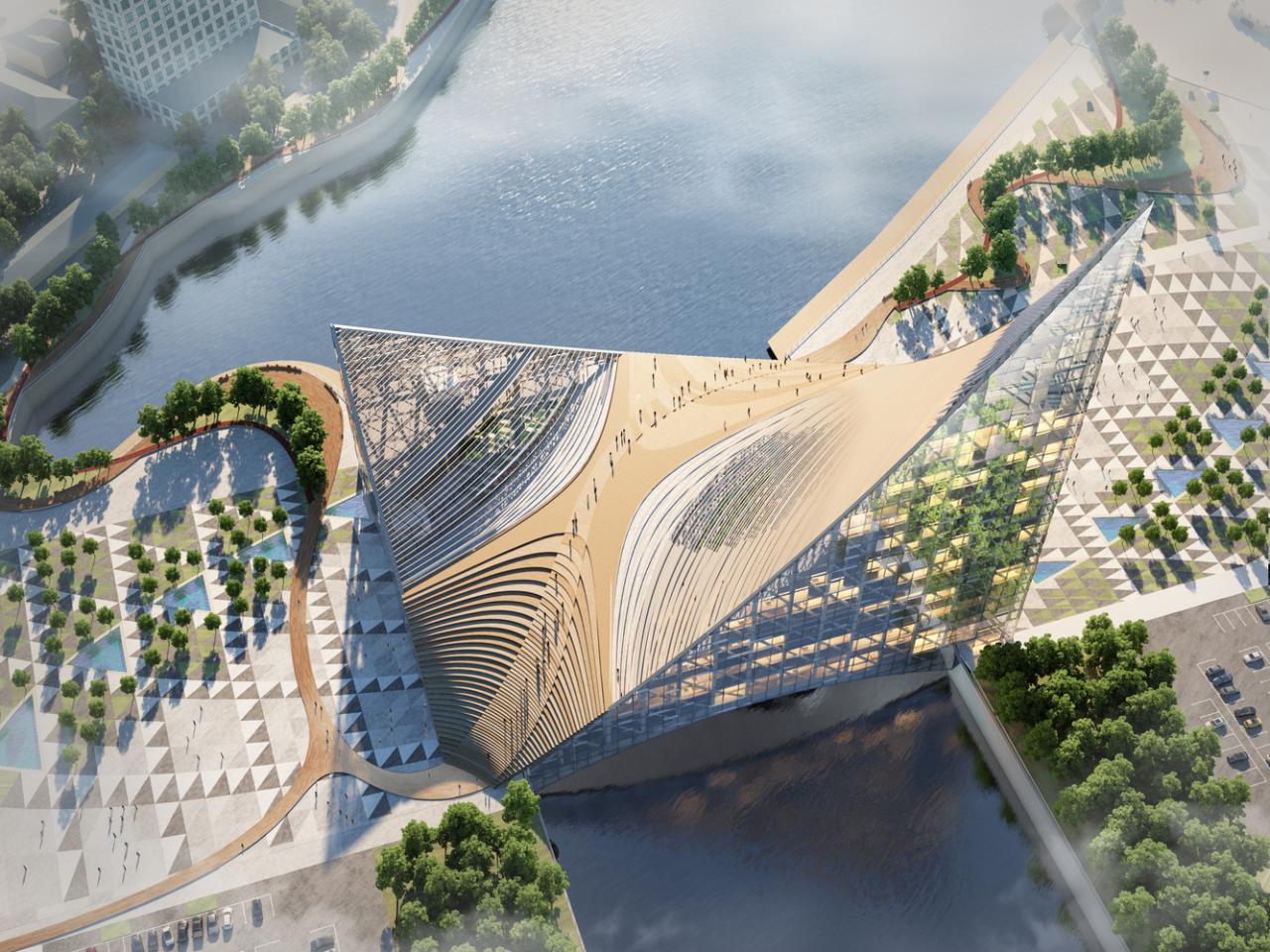 В Челябинске строят мост–небоскреб Всячина