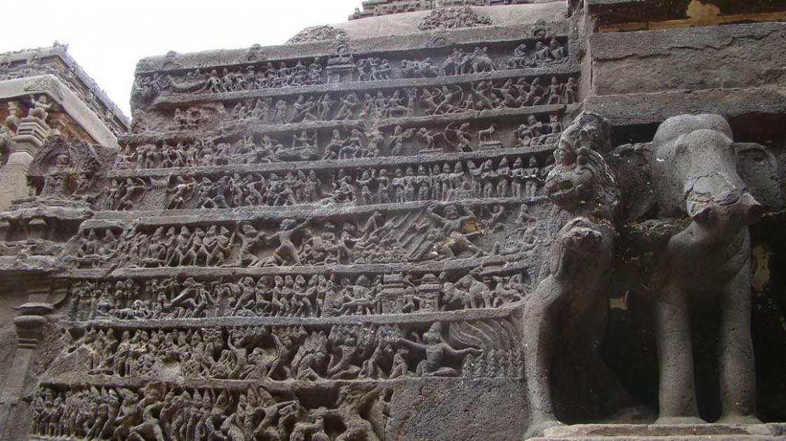 Уникальный храм Кайласанатха архитектура