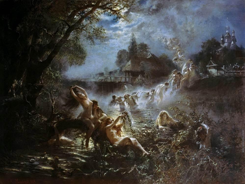 В чём различие славянских и западных русалок Картины великих художников