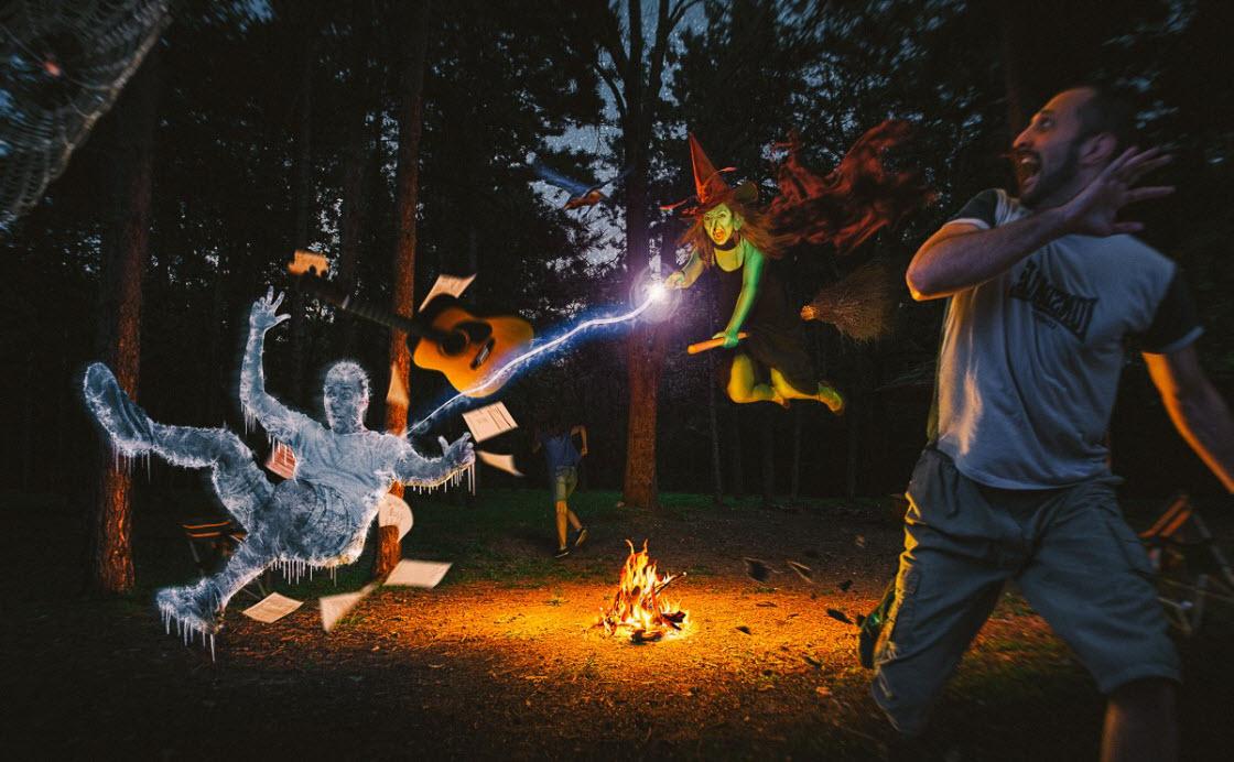 Забавные и сказочные фотоколлажи забава