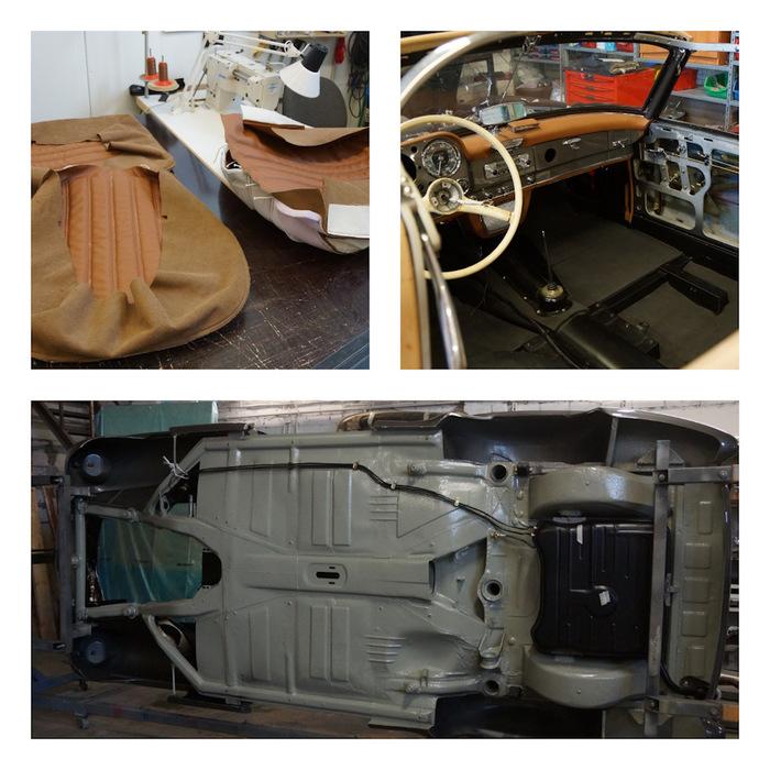 Реставрация Мерседес 190SL W121 автосамоделки