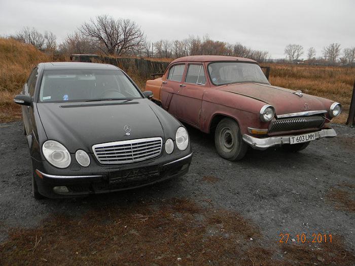 «Волга» мечты: мастера скрестили три ГАЗ-21 и один Mercedes-Benz W211 E500, чтобы получить шикарный автомобиль