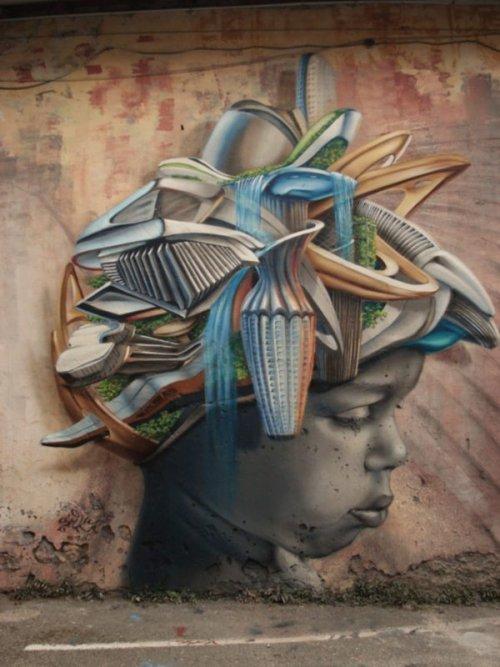 Уличное искусство в своём лучшем проявлении дороги