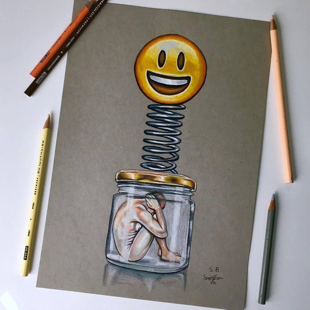 Художник высмеивает современное общество, не церемонясь с чувствами зрителя