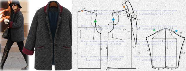 Весна не за горами, а значит, пора шить новое пальто! выкройка пальто