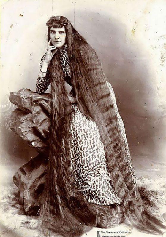 Волосы длиною в жизнь: красавицы Викторианской эпохи, которые никогда не стриглись викторианская эпоха