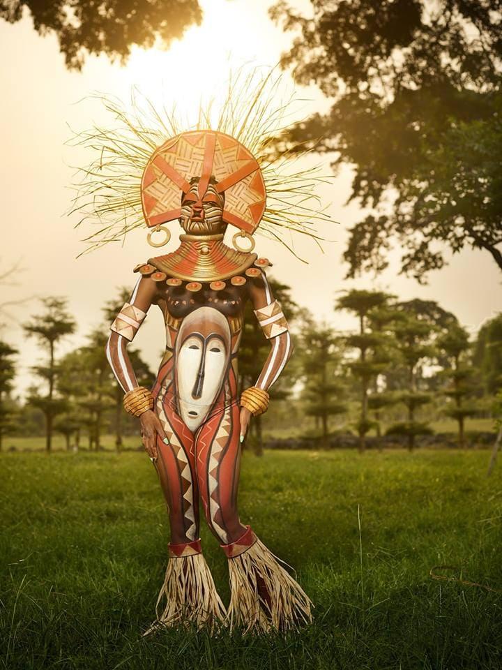 Фестиваль бодиарта в Экваториальной Гвинее 2019 картинки