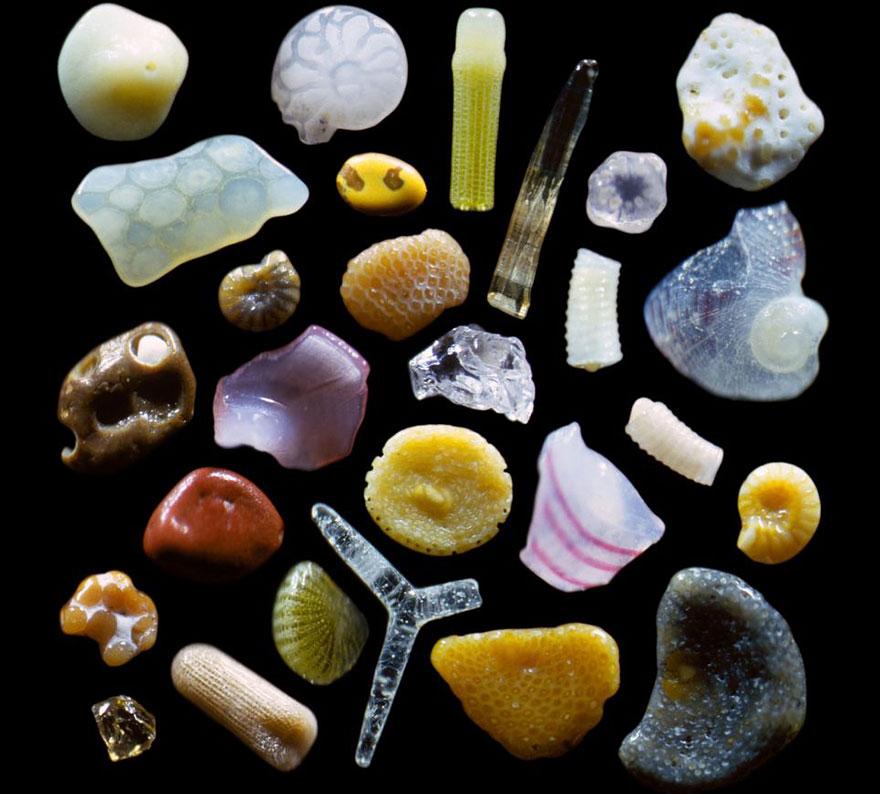 Вот как выглядит песок, если увеличить его под микроскопом в 300 раз
