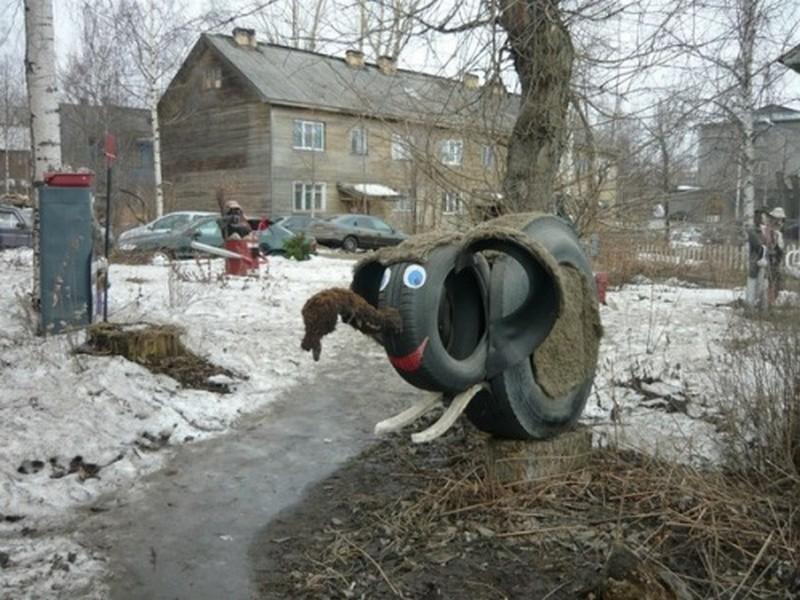 Суровый ЖКХ-арт стрит-арт