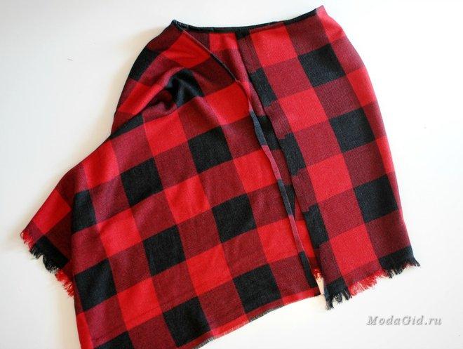 Оригинальная вещь пончо-юбка Одежда