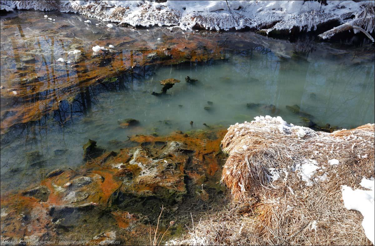 Пять физических состояний воды Уакита . Бурятия. Россия дальние дали