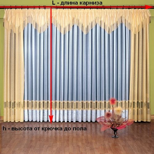 Расчет ткани на шторы на ленте сделай сам