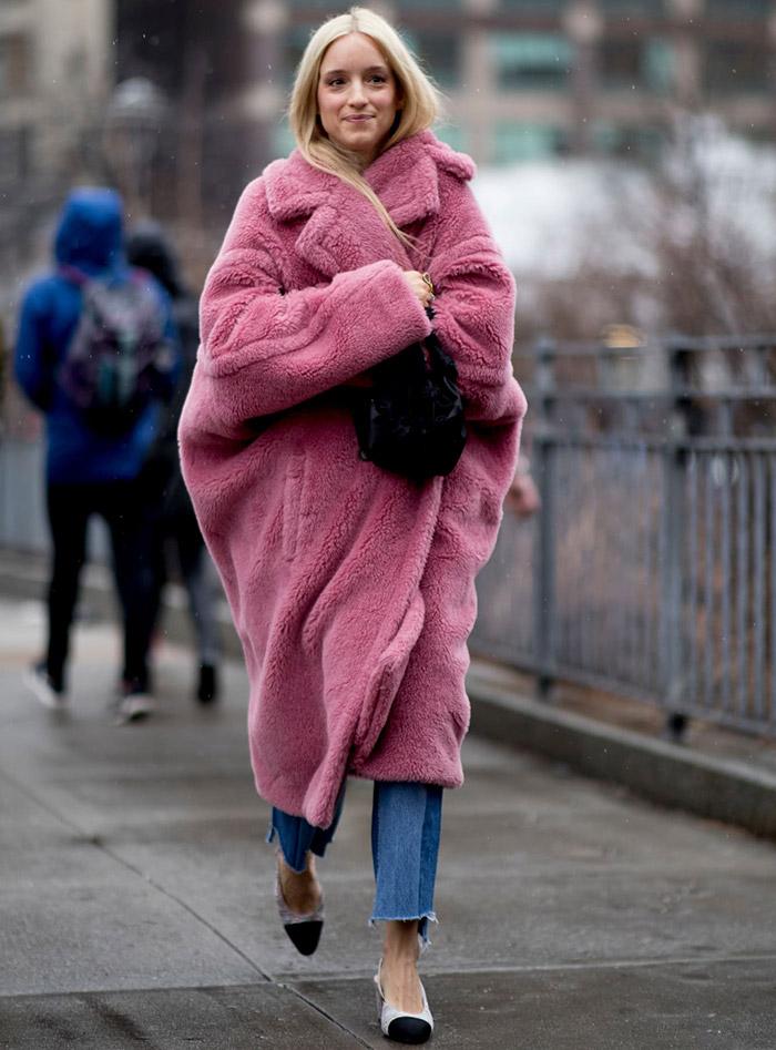Шубы гостей Недели моды в Нью-Йорке лучшее