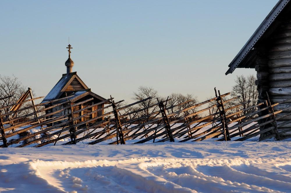 Зимняя сказка Кижей. Карелия. Россия. Дальние дали
