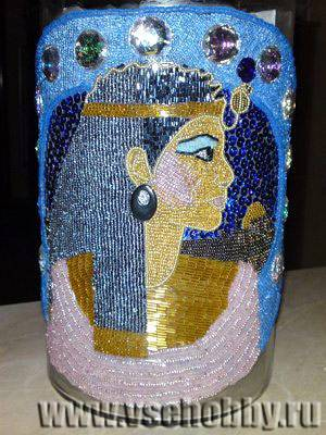 Декор вазы бисером своими руками: мастер-класс бисероплетение