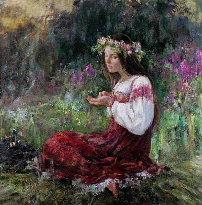 Художник Анна Виноградова. Святочная благодать Живопись